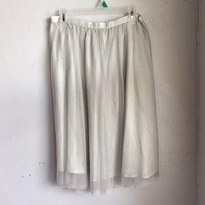Zara Tulle Knee Length Skirt